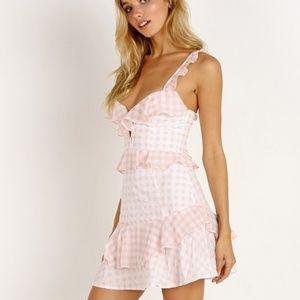 For Love & Lemons   Dixie Ruffle Mini Dress NEW!